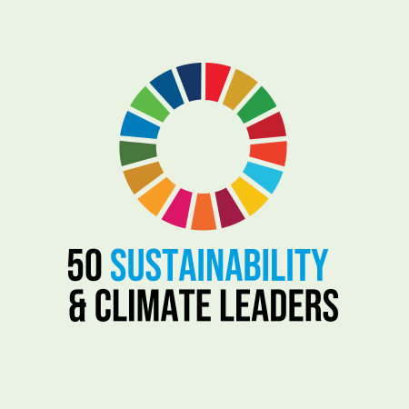 """<h4 style=""""text-align: center;""""><span style=""""color: #818e61;"""">50 Climate Leaders</span></h4>"""
